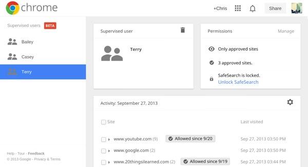 Google Chrome Supervise