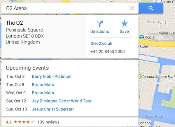 Google Maps Date Concert Match