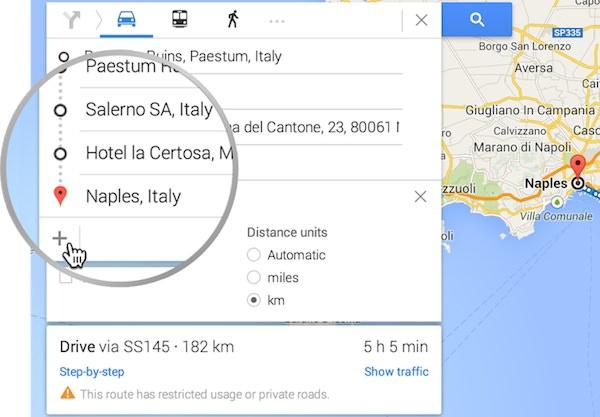 Google Maps Plusieurs Itineraires