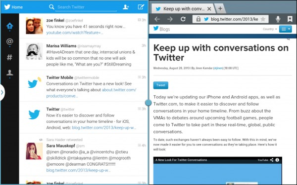 Twitter Tablette Android 2 Apps