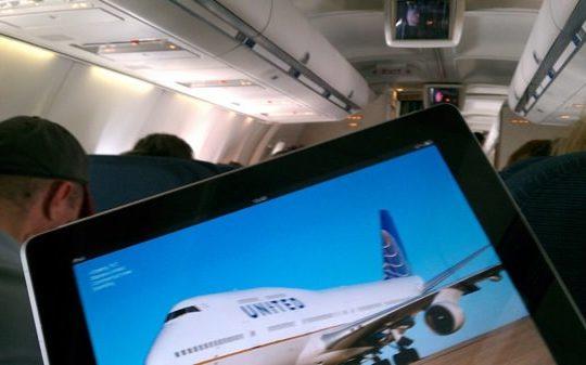 iPad dans un Avion