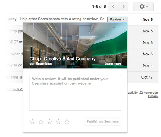 Gmail Interaction Services sans quitter boite mail 2