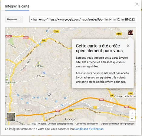 Google Maps Integrer Carte