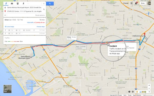 Google Maps Trafic Routier Waze