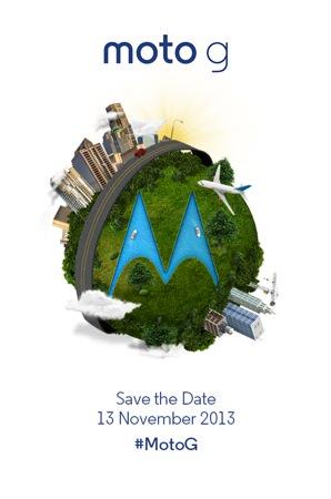 Moto G 13 novembre
