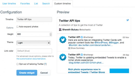 Twitter Embed Liste Personnalisee