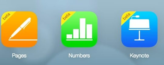 iWork pour iCloud beta