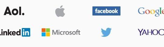 AOL Apple Facebook Google LinkedIn Microsoft Twitter Yahoo