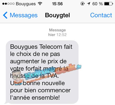 Bouygues Pas de Hausse TVA 2014
