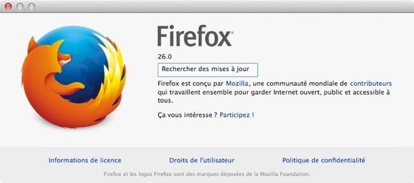 Firefox 26 Mac