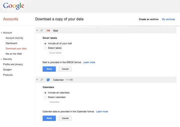 Gmail Copie de Donnees