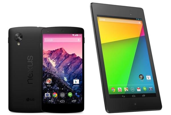 Nexus 5 Nexus 7 2013