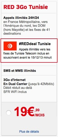 SFR RED Tunisie Promo