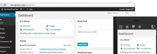 WordPress 3.8 Nouvelle Interface