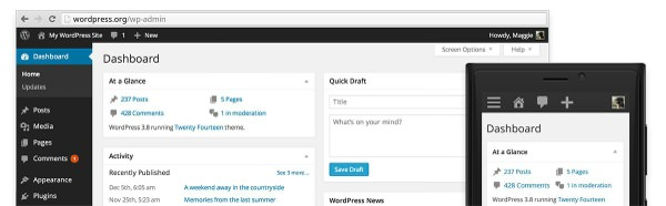 WordPress 3.8 Nouvelle Interface
