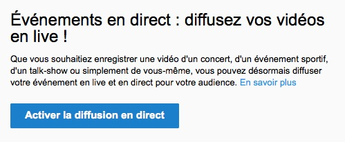 YouTube Video en Direct