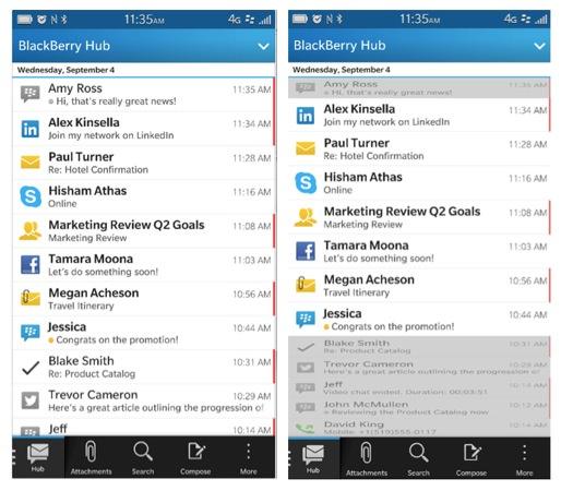 BlackBerry OS 10.2.1 BlackBerry Hub