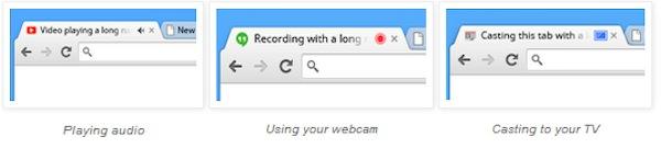 Chrome 32 Onglet Icones
