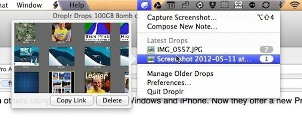 Droplr Mac