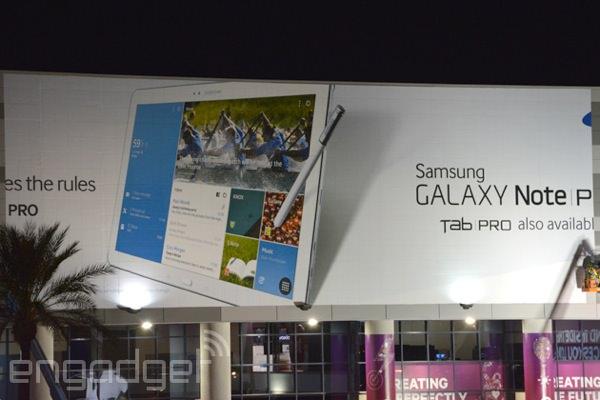 Galaxy Note Pro Panneau Affichage CES