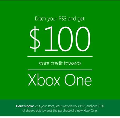 Microsoft Rachete PS3 100 dollars