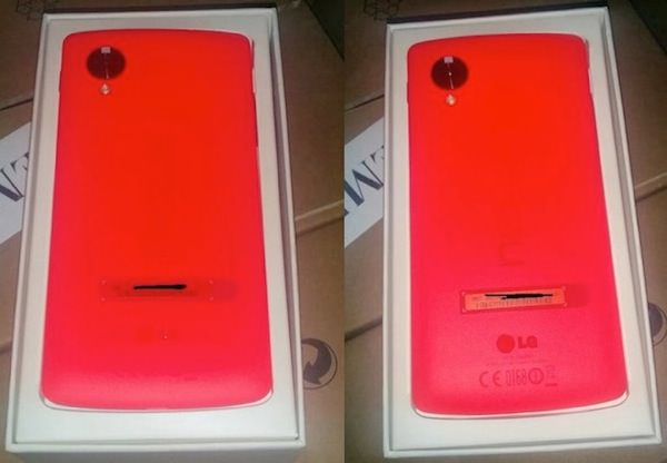 Nexus 5 Rouge Arriere Fuite