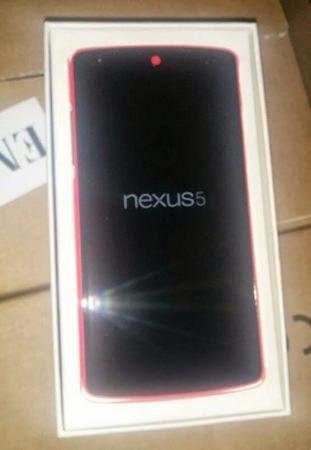 Nexus 5 Rouge Avant Fuite