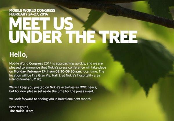 Nokia Conference MWC Fevrier 2014