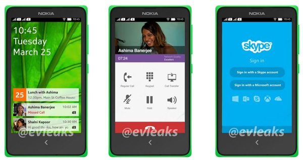 Nokia Normandy Interface Android Fuite