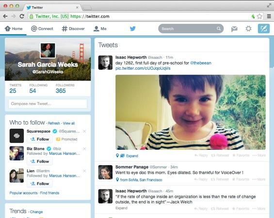Nouveau Twitter Janvier 2014
