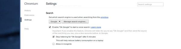 Recherche Google Chromium