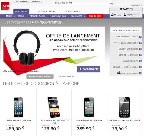 SFR Boutique en ligne Occasion