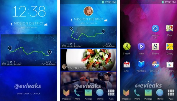 Samsung Nouvelle Interface Smartphone Fuite