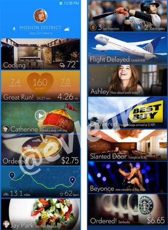 Samsung TouchWiz Cartes