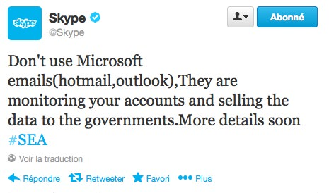 Skype Hack Armee Electronique Syrienne Twitter