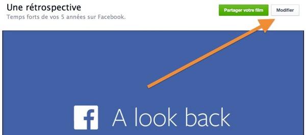 Facebook Une Retrospective Modifier