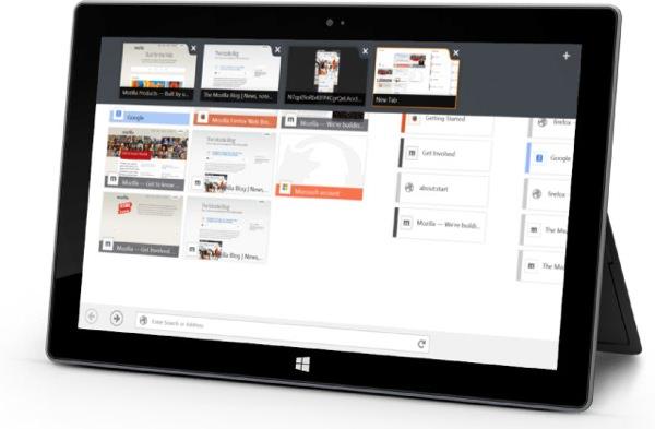 Firefox Windows 8 Tactile