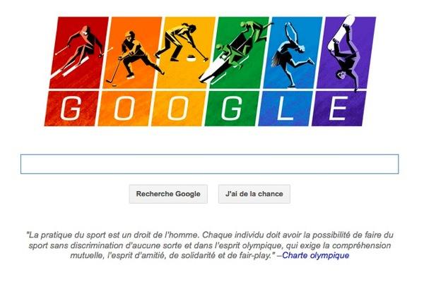 Google Doodle Jeux Olympiques 2014