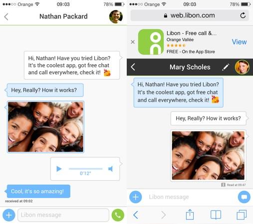 Libon Open Chat iPhone