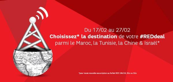 RED SFR Appels Illimites Tunisie Maroc Chine Israel