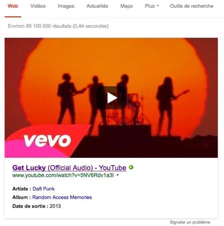 Recherche Google Video YouTube En Avant