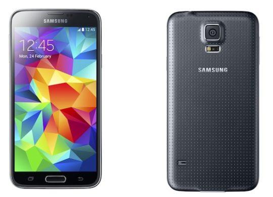Samsung Galaxy S5 Face Dos Noir