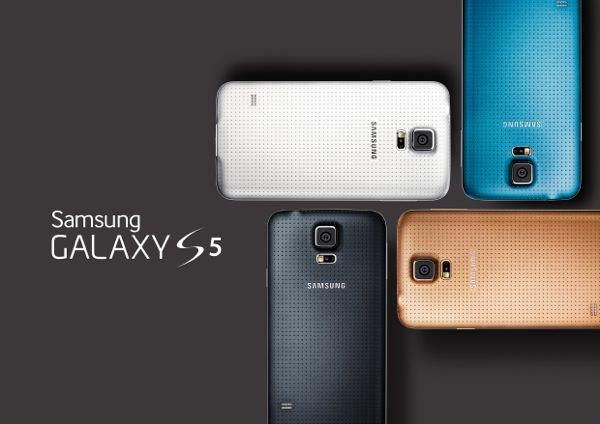 Samsung Galaxy S5 Noir Blanc Bleu Or