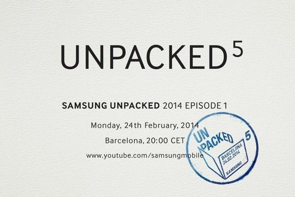 Samsung Unpacked 5 24 Fevrier 2014