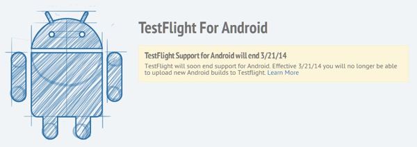 TestFlight Arret Support Android