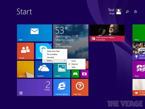 Windows 8.1 Mise a jour 1 Fuite