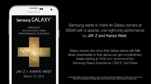 Samsung Concert Prive Jay-Z Kanye West