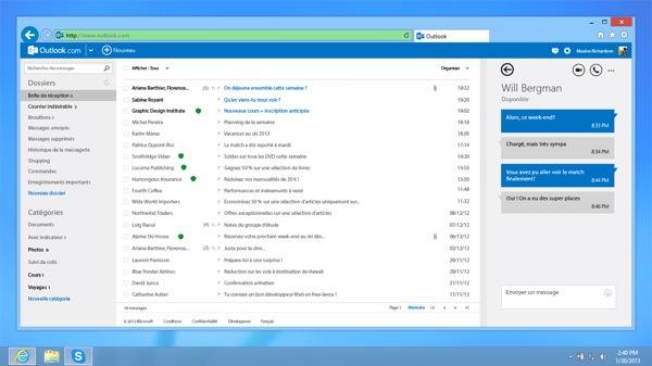 Skype pour Outlook.com