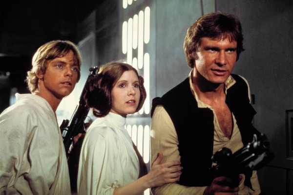 Star Wars Luke Skywalker Princesse Leia Han Solo
