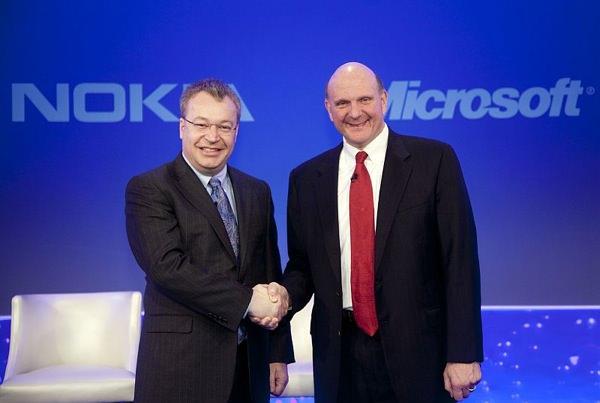 Stephen Elop Nokia Steve Ballmer Microsoft